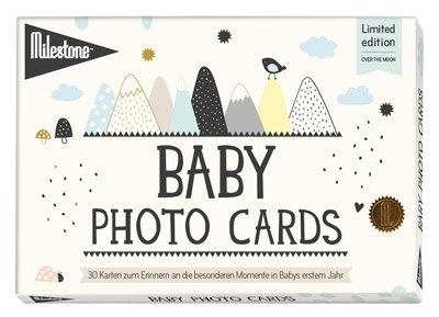 Baby Photo Cards Over the moon