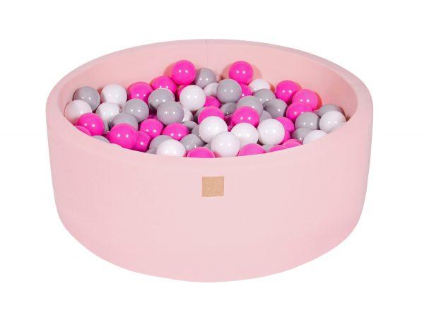 Bällebad rund rosa