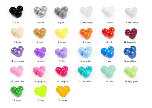 Auswahl Ball Farben